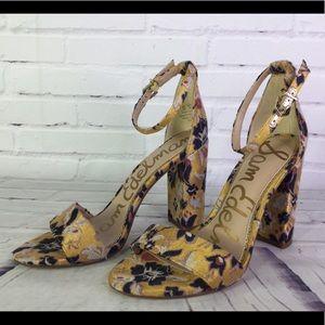 Sam Edelman Yaro Sz 6 Gatsby Floral Jacquard Heels